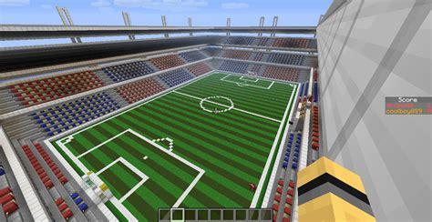 minecraft sports stadium soccer in minecraft game map minecraft worlds curse