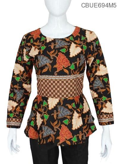 Marwah Batik atasan panjang marwah motif kotemporer tumpal blus