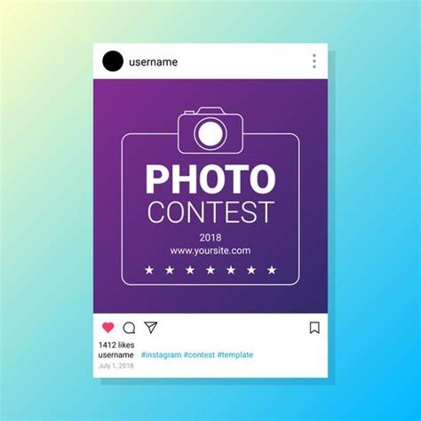 photo contest template photo contest instagram template for socia media