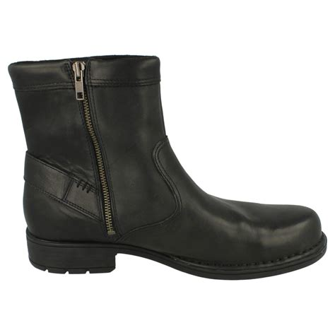 mens rockport leather zip up boots ebay