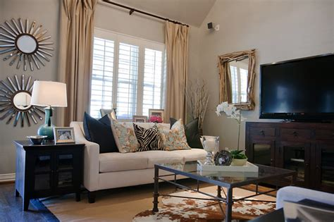 Decorating Small Homes On A Budget by Rustic Glam Living Room Traditional Living Room
