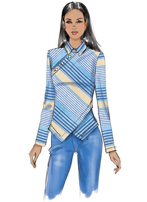 t shirt pattern vogue vogue patterns 9227 misses button detail tops sewing pattern