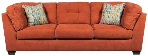 rust sofa delta city rust sofa from ashley 1970138 coleman furniture