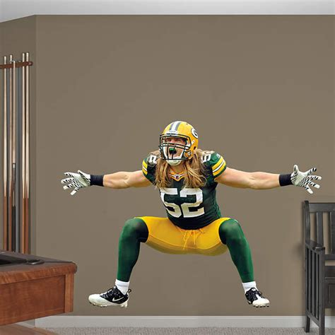 fatheads wall stickers size clay matthews sack celebration wall decal shop
