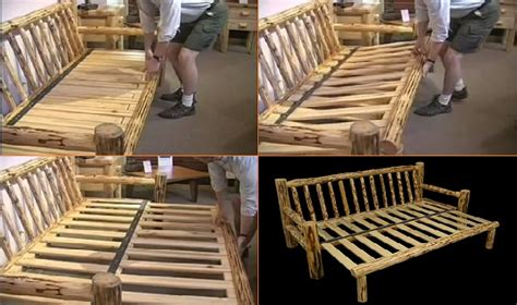 homemade futon furniture log sofa futon home design garden