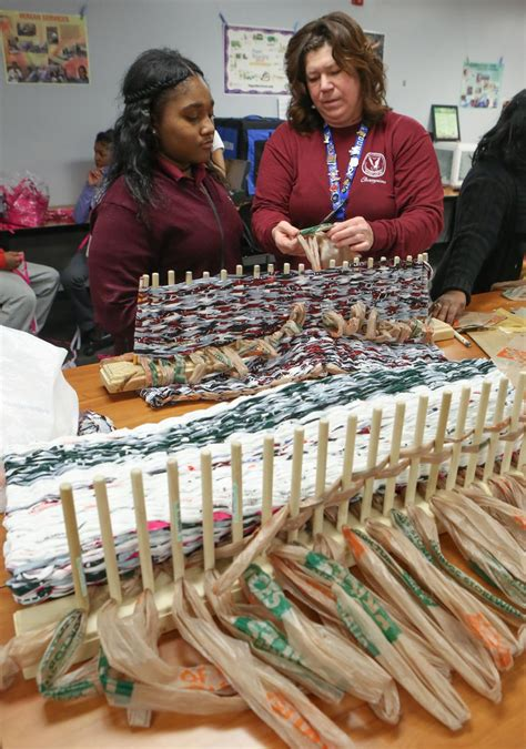 pattern maker jobs wisconsin bowman students weave mats for the homeless making the