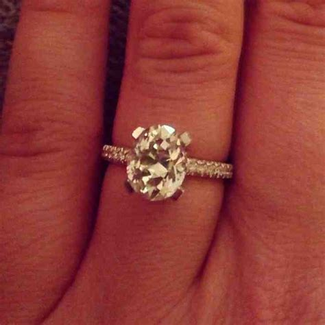 2 carat oval engagement rings wedding and bridal