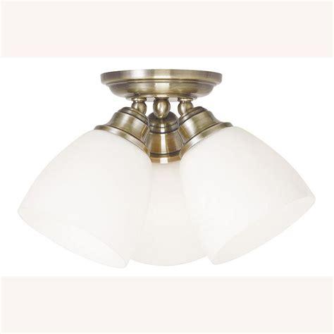 antique brass flush mount light feiss renewal 3 light antique brass flushmount