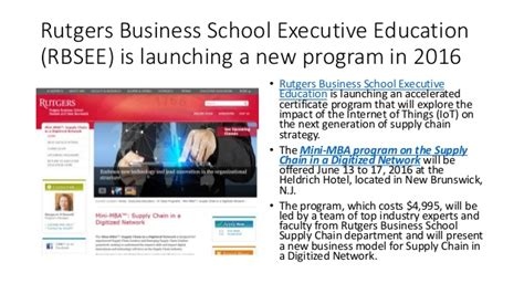 Rutgers Mba Application by Rutgers Business School Executive Education Study