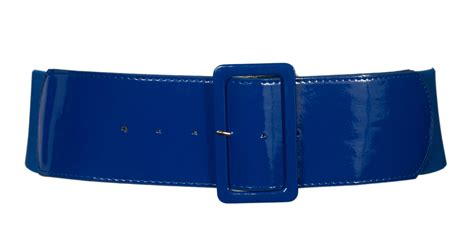 plus size wide patent leather fashion belt navy evogues