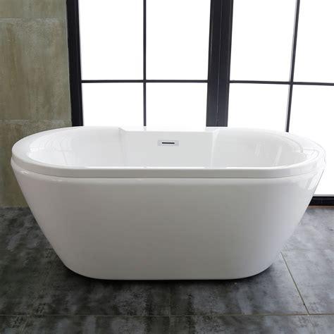 60 freestanding bathtub 60 in acrylic white freestanding bathtub dk mec3061