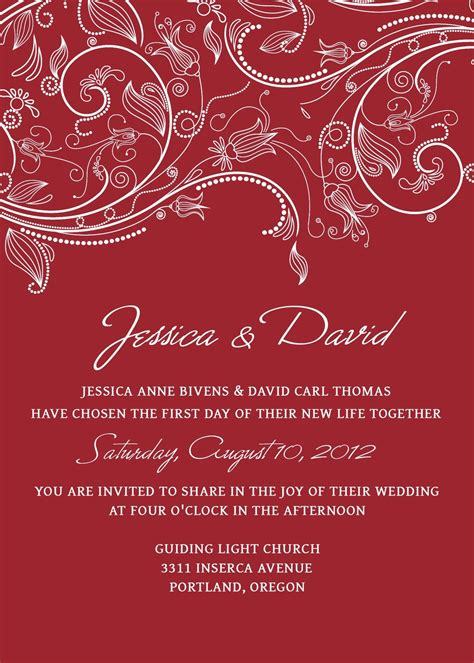 Photoshop Invitation Templates Invitation Template Wedding Invitation Card Template Editable