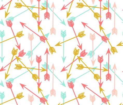 girly arrow wallpaper arrows coral gold mint pink cute girls room girly