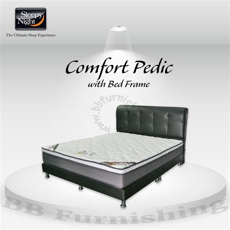 Bed Comforta Pedic Comfort Pedic Mattress With Free Bedframe Delivery Promotion
