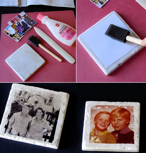 How To Make Handmade Coasters - how to make photo tile coasters diy crafts handimania