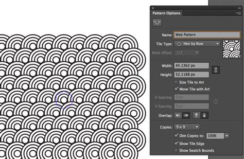 pattern making illustrator cc the pattern options dialog enables you to control how your