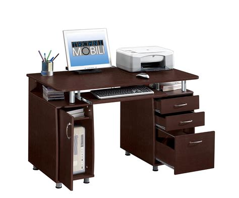 techni mobili computer desk techni mobili multifunction pedestal storage