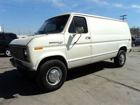 how cars engines work 1990 ford e series regenerative braking find used 1990 ford e 350 econoline custom standard cargo van 2 door 7 3l no reserve in orange