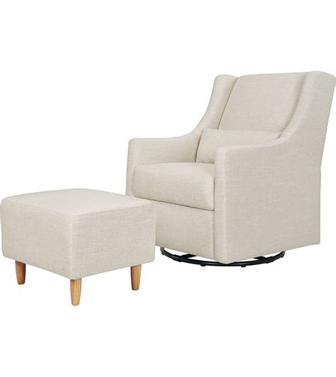 white glider with ottoman babyletto toco swivel glider ottoman linen white