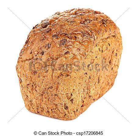 whole grains svenska stock photo of whole grain bread isolated on white