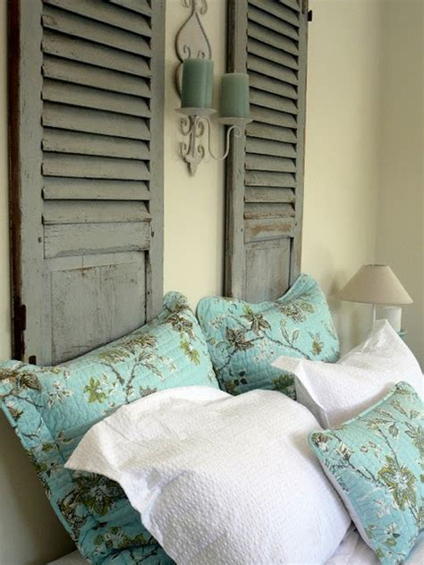 Used Headboard by Lovely Shutter Board Headboard Diy Ideas