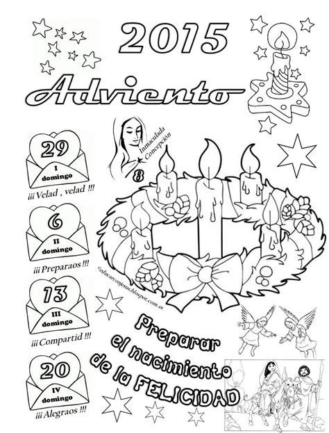 Calendario Para Colorear Para Una Navidad Feliz Calendarios De Adviento 2015