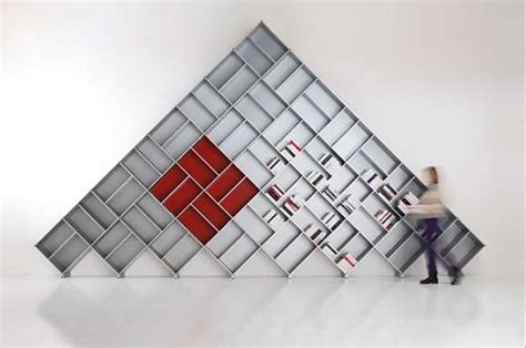geometric furniture the pyramid bookcase gives your books