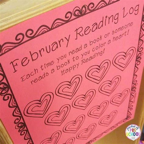 themed monthly reading logs modern preschool reading log for preschool pre k and kindergarten