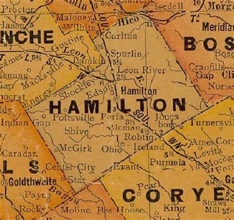 hamilton texas map ohio texas hamilton county ghost town