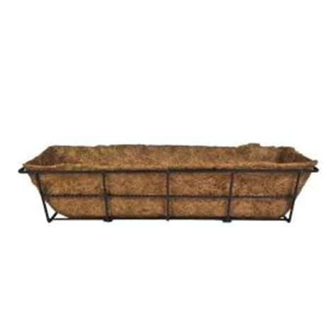 cobraco canterbury 7 in steel deck rail planter dpbcb24 b