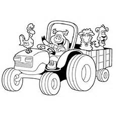 25 Adventurous Tractor Coloring Pages For Your Little Ones sketch template