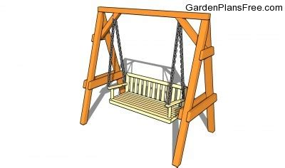 swing bench plans outdoor bench swing plans woodguides