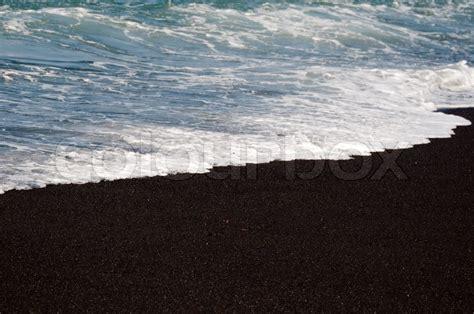 volcanic sand black volcanic sand on el golfo bay on lanzarote canary