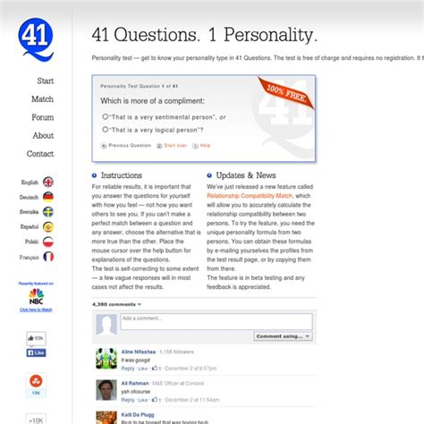 personality test 41 questions 1 personality 100 free pearltrees