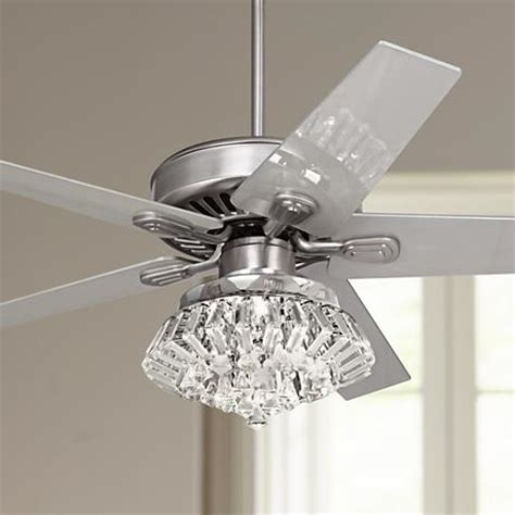 ceiling fans with crystals 52 quot windstar ii steel light kit ceiling fan