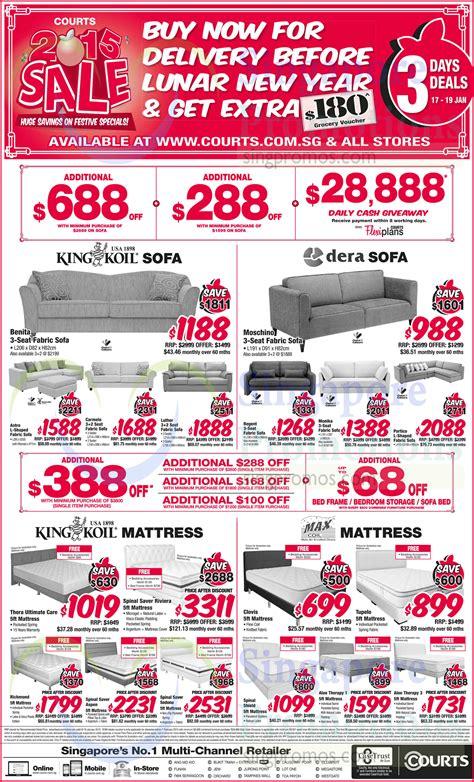 Sofa Promotion Singapore by Sofa Sets Mattresses King Koil Dera Maxcoil 187 Courts