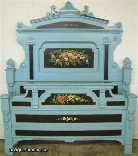 antique cottage furniture antique paint decorated cottage bed at antique furniture us
