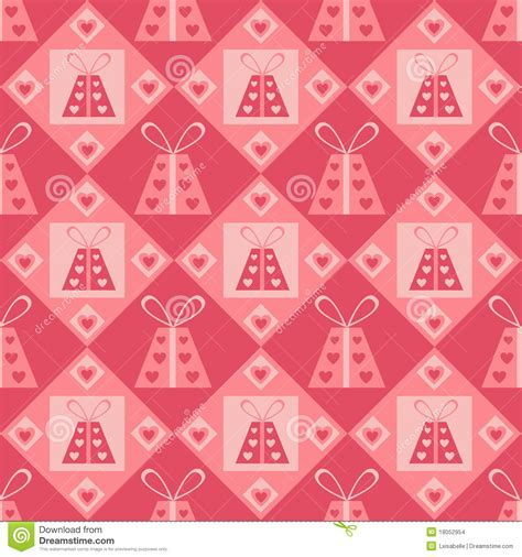 cute valentine pattern cute st valentine s day presents pattern stock vector