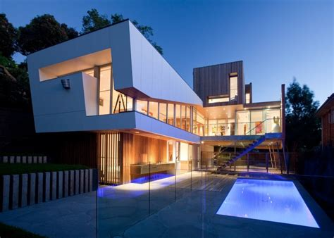 Modern Home Design Awards by Innovative Glass Home Architecture By Vibe Design Group
