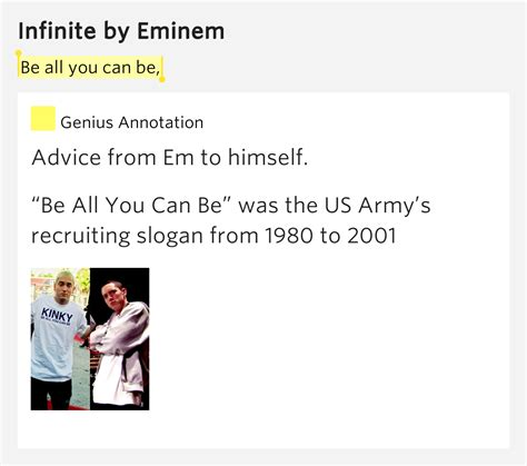 eminem infinite lyrics be all you can be infinite by eminem