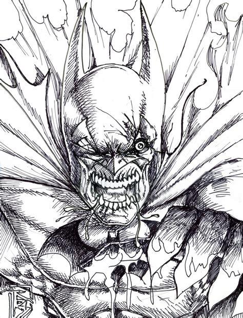 zombie batman coloring pages zombie batman by bigrob1031 on deviantart