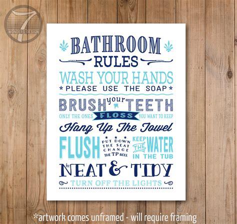 kids bathroom rules kids bathroom rules art print pre teen bathroom subway
