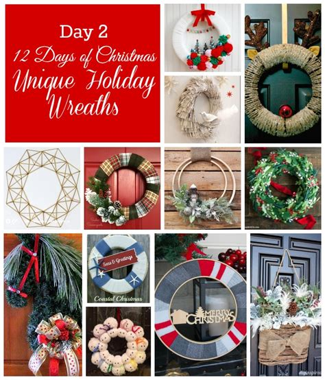 12 days of christmas on pinterest christmas door decorations 12 days of 12 unique wreaths
