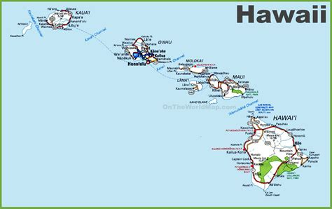 map of usa and hawaii hawaii road map