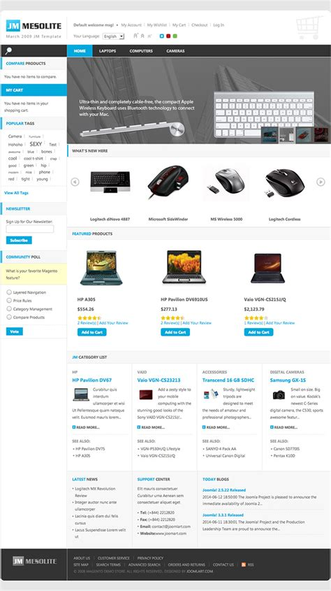 magento category custom layout update exle mesolite ecommerce magento theme ubertheme