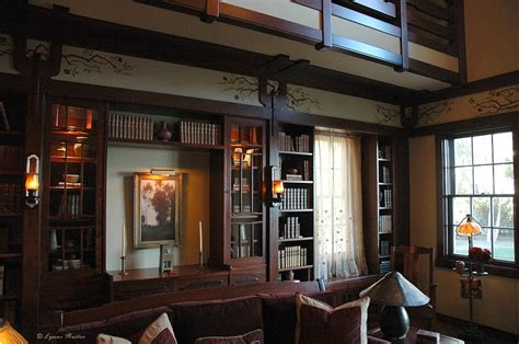 arts crafts style library the ornamentalist barbra streisand s arts and crafts library