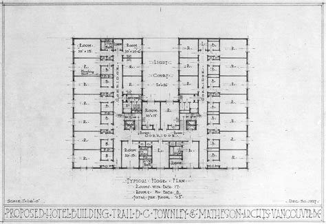 floor plan for hotel proposed hotel building trail b c typical floor plan