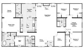 5 bedroom mobile home floor plans gallery for gt 5 bedroom triple wide mobile home floor plans