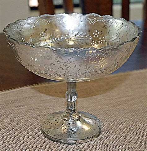 mercury glass desiray compote