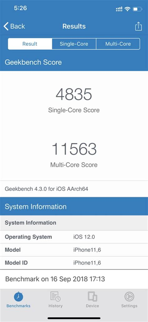 iphone xs scores 11 563 points in geekbench 4 s multi tests